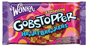 Wonka Gobstoppers Heartbreakers Valentines Day Bag, 12-Ounce Bags (Pack of 6)
