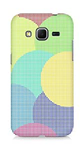 Amez designer printed 3d premium high quality back case cover for Samsung Galaxy Core Prime (Circles dimensions squares background bright)