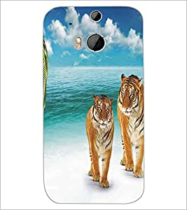 HTC ONE M8 TIGERS Designer Back Cover Case By PRINTSWAG