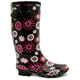 Spy Love Buy Flat Snow Rain Buckle Wellies Wellington Knee High Boots &quot;Luz&quot;