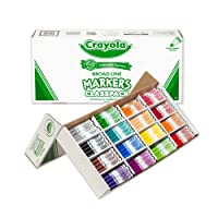 Crayola 256ct Classpack 16 colors Broad Line Markers