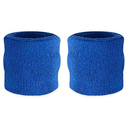 Suddora Polsini sportivi in cotone, confezione da 2