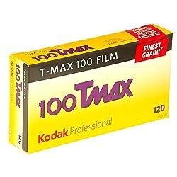 Kodak 857 2273 Professional 100 Tmax Black and White Negative Film 120 (ISO 100) 5 Roll Pack