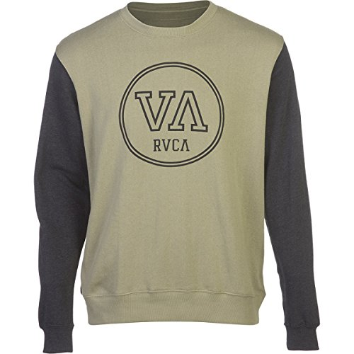 Rvca Men'S Fundamental Crew, Green Tea Heather, Medium