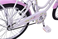 "Ammaco Haze Traditional 20"" Wheel Girls Bike Basket 13"" Frame Classic Dutch Shopper Style Heritage White / Pink Age 7+ by Ammaco"