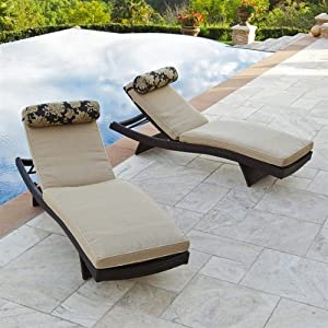 RST Brands Cannes Patio Chaise Lounge Chair With Slate Grey Cush