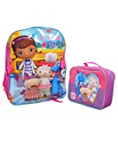 Disney Girls 2-6X Doc Mcstuffins Backpack with Lunch Set, Purple, One Size