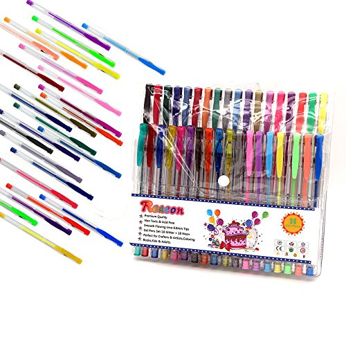 coloring pages for gel pens - reaeon colored gel pens coloring gel pen for office art