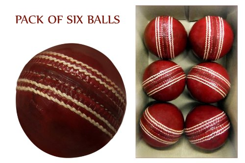 Cricket Ball Grade - A Tested 50 Overs Match Ball Pack of Six