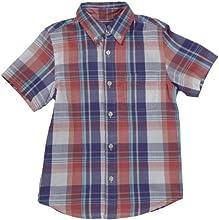 E-Land Kids Big Boys39 Plaid Shirt ToddlerKids - Sugar Coral