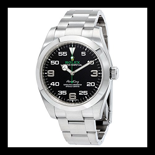 Rolex Air King Black Dial Stainless Steel Mens Watch 116900BKAO (Rolex Air King compare prices)