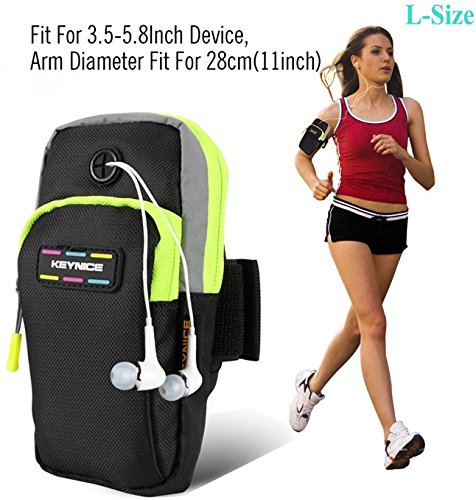 Cell-Phone-Sports-ArmbandKeynice-Multifunctional-Pockets-Workout-Running-ArmBag-for-iphone66plus6s-Plus55sGalaxy-S6S5S4S3Note-2-3-4-and-all-3558-smartphone