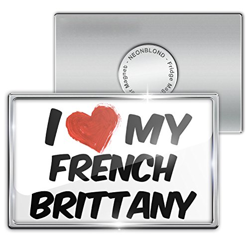 Fridge Magnet I Love My French Brittany Dog From France - Neonblond