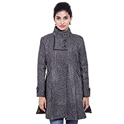 Fbbic Women's Woolen Jute Coat