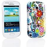 Kit Me Out FR - Samsung Galaxy S3 Mini i8190 III Android Housse / Coque / Étui de Protection en Gel TPU Cercles Avec Fleurs