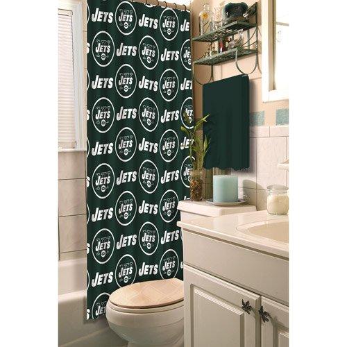 Ny Jets Fabric Shower Curtain front-924609