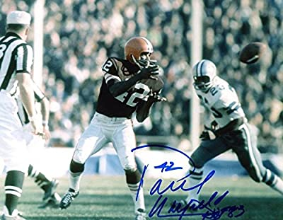 Paul Warfield Hof 93 Cleveland Browns Signed Autographed 8x10 Photo Coa