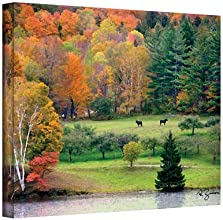 Artwal Killington Vermont by George Zucconi Gallery Wrapped Canvas Art 18 x 24 Inch