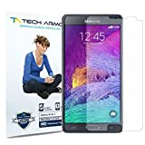 Tech Armor Samsung Galaxy Note 4 High Defintion (HD) Clear Screen Protectors -- Maximum Clarity and Touchscreen Accuracy [3-Pack] Lifetime Warranty