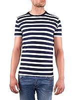 Cross Jeans Camiseta Manga Corta (Azul Marino / Blanco)