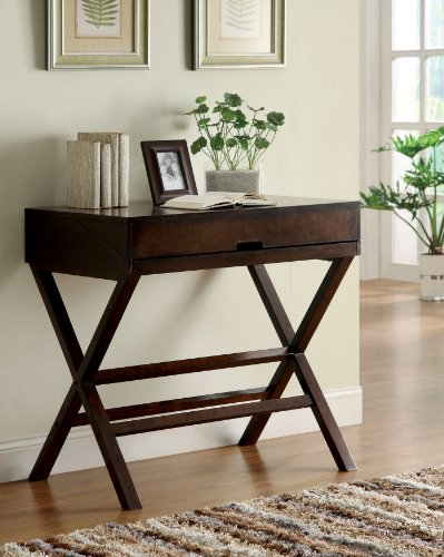 Cheap Furniture of America Avery Secretary Desk/Console Table, Espresso (IDF-DK6229)