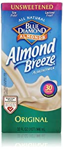 Blue Diamond Almond Breeze, Unsweetened Original, 32 Fl Oz