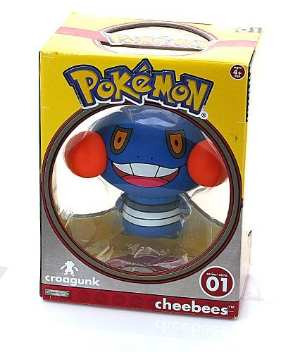 "Pokemon 3.5 Vinyl Cheebees Figure - Croagunk "" - 1"