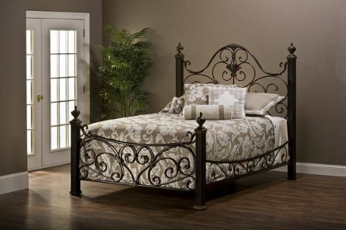 Hillsdale Mikelson Headboard - Queen With Rails Aged Antique Gold front-965125