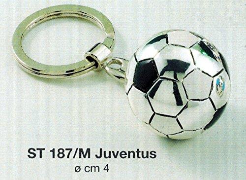 llavero-balon-equipo-futbol-juventus-d-cm4-laminado-gris-made-in-italy