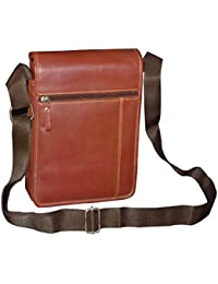 Style98 Premium Quality Leather Travel Messenger/Sling Bag For Men,Women,Boys & Girls - Brown - B01H8YOK88