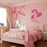 NEW arrive Kids Girl Room Fairy Princess Butterly Wall Sticker Decal Vinyl Cartoon 3D baby love
