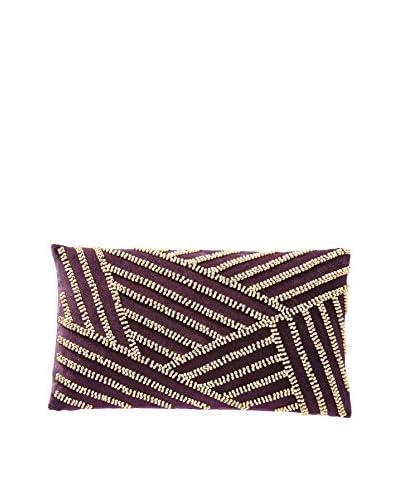 Nanette Lepore Skin Rustic Beads Pillow, Purple/Gold