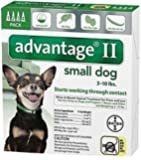 Bayer Advantage II, Small Dogs, Up to 10-Pound-Pound, 4-Month