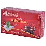Nibharra Unisex Aloe Vera Saffron Soap (Pack Of 5 )
