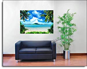 Enchanted island peel stick canvas one piece for 5 piece mural