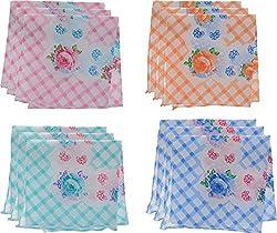 Jai Guruji Enterprises Women's Handkerchief (JG_0103, 12 Pieces)