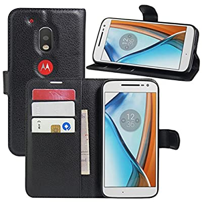 Moto G4 Plus Case, Moto G4 Case, Fettion Leather Wallet Phone Cases Flip Cover with Stand Card Holder for Motorola Moto G4 / Moto G4 Plus 2016 Smartphone by Fettion