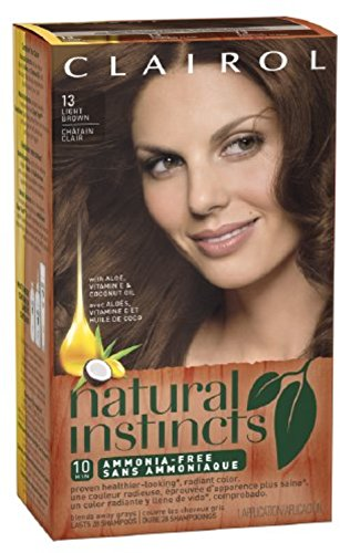 Clairol Natural Instincts  13 Suede Light Brown 1 Kit  (Pack of 3) (packaging may vary) (Clairol Color Treat Conditioner 3 compare prices)