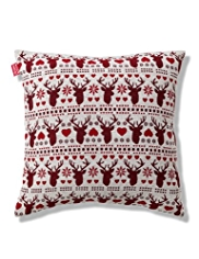 Stag Heads Chenille Cushion