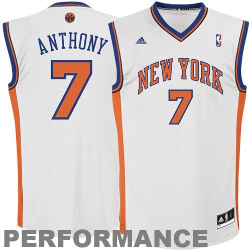 NBA New York Knicks Carmelo Anthony Youth 8 20 Replica Home Jersey Large White
