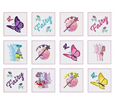 Pretty Girls Fairy Temporary Tattoos Pack of 12 - Great Party Loot Bag Fillers