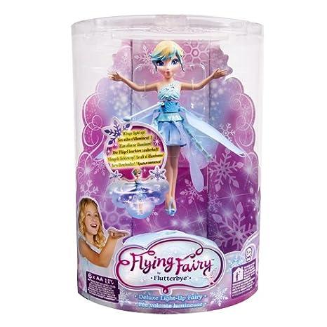 Fée volante hiver flocon de neige lumineuse - Flutterbye Flying Fairy Bleue