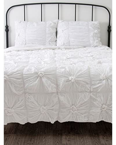 Rizzy Home White Daydream 3-Piece Comforter Set