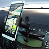maxxcount smart2hold Type 4 Auto Klammer Universalhalter f�r CD Schacht mit grauer Gummierung f�r Handy, Smartphone & Navi / iPhone 4 4S 5 5S 5C 6 Plus, Samsung Galaxy S4 S3 S2 / mini / Note II III, HTC One / mini, Sony Xperia Z1 Z, LG G2 / Nexus, Blackberry Z10, Nokia und viele mehr!