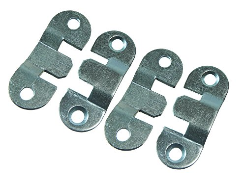 Photo Flush Bracket cachés Interlocking Mounts 43mm X 18mm Pack Of 4