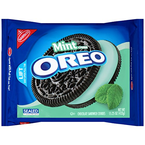 Oreo Chocolate Sandwich Cookies, Cool Mint Creme, 15.25 Ounce Package (Pack of 12) (Oreos Red Velvet compare prices)