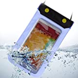 New Waterproof Case Dry Bag Pouch for Samsung Galaxy Note 3 / Note 2 / S5 / S4 /Nokia Lumia 1020 / 925 / 928 / HTC ONE M8 / Sony Xperia Z1 / Z2 / LG G2 / G3 / Moto G 4G 8GB 16GB (Blue)