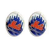 New York Mets Post Stud Logo Earring Set Mlb Charm ~ aminco