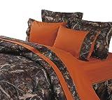 HiEnd Accents Hunter's Sheet Set, Full, Orange