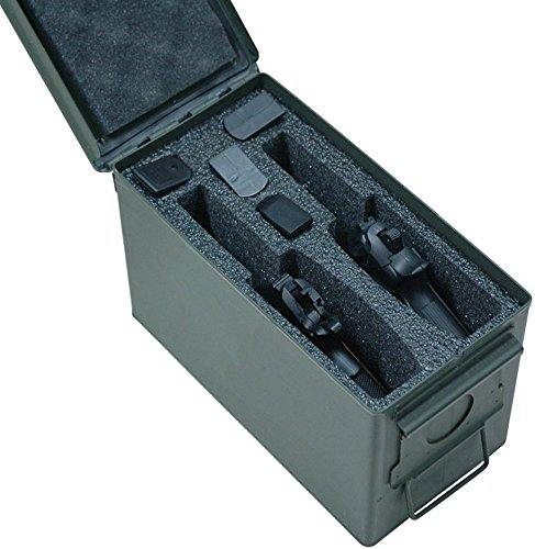 Case Club 2 Pistol .50 Cal Ammo Can Foam (Pre-cut, Closed Cell, Military Grade Foam)